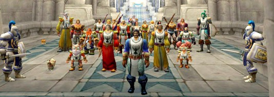 group of warriors in world of warcraft